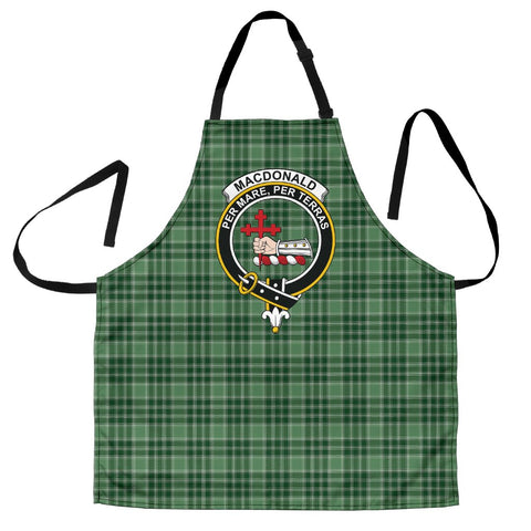 Image of MacDonald Lord of the Isles Hunting Tartan Clan Crest Apron