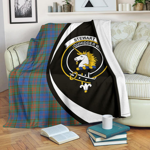 Stewart of Appin Hunting Ancient Tartan Clan Crest Premium Blanket Circle