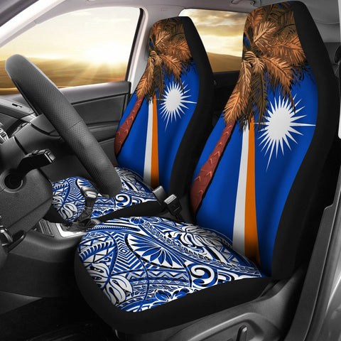 Marshall Islands Polynesian Car Seat Covers - Palm Tree - BN39