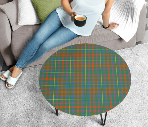 MacKintosh Hunting Ancient Tartan Circular Coffee Table - BN