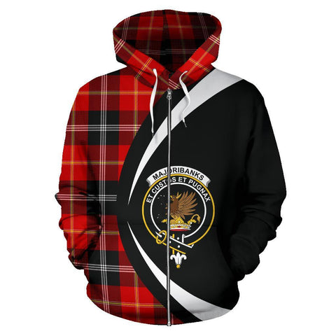 Image of Marjoribanks Tartan Circle Zip Hoodie