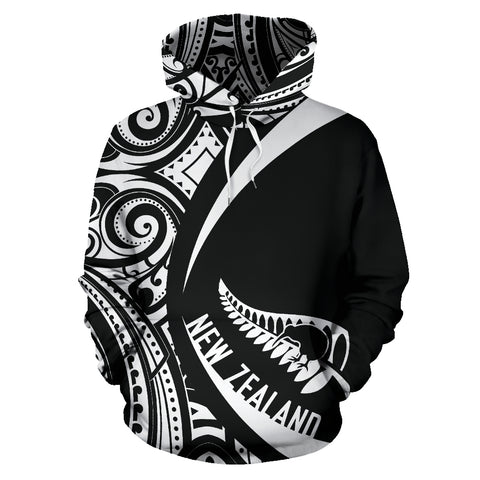 New Zealand Maori Pattern Hoodie - Circle Style