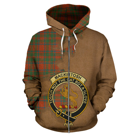 MacKintosh Ancient  Royal All Over Hoodie (Zip)