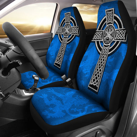 Image of Scottish Lion Celtic Cross Car Seat Covers K4