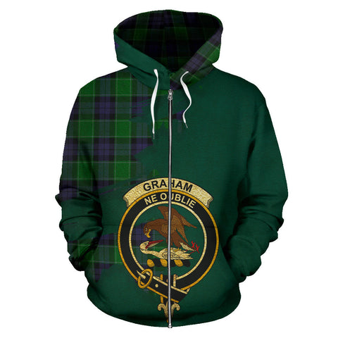 Graham of Menteith Modern  Royal All Over Hoodie (Zip)