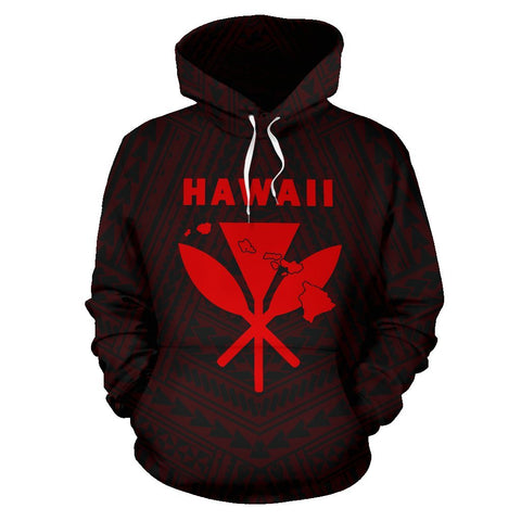 Image of - Hawaii Kanaka Polynesian Hoodie Red - AH - J71