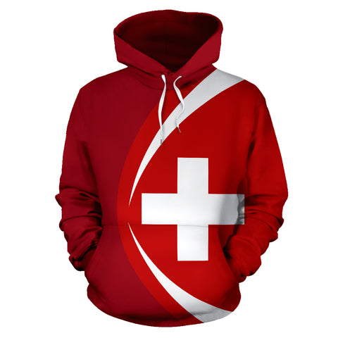 Switzerland Flag Hoodie - Circle Style