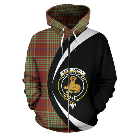 Image of MacGillivray Hunting Ancient Tartan Circle Zip Hoodie