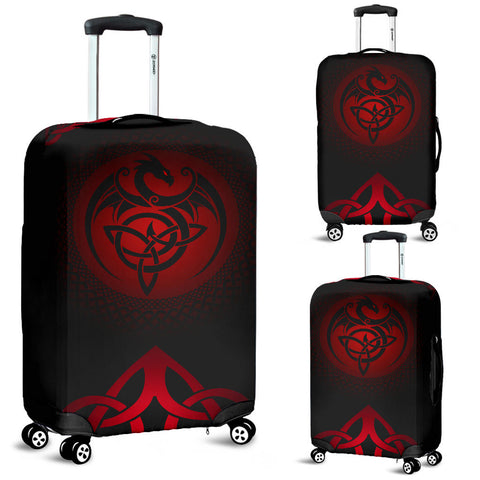 Celtic Luggage Covers - Celtic Dragon - Red | 1sttheworld