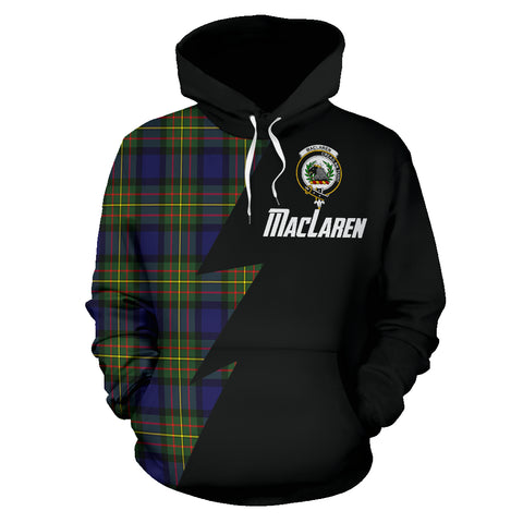 Tartan All Over Hoodie - MacLaren Clans Badge - BN