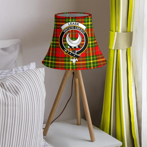 Image of Leask Tartan Clan Crest Bell Lamp Shade HJ4