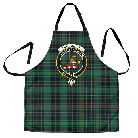 Image of MacAulay Hunting Ancient Tartan Clan Crest Apron