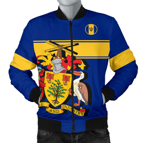 Barbados Version Coat of Arms Men's Bomber Jacket A15