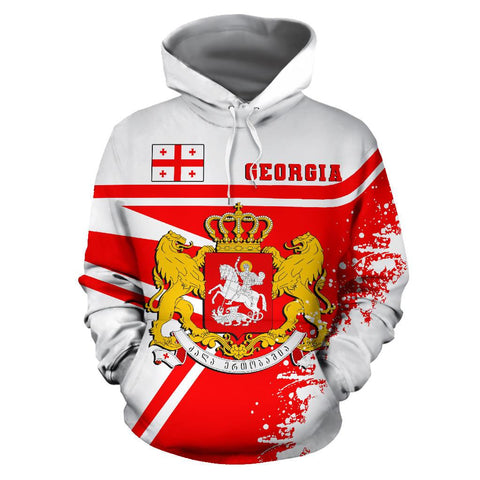 Image of Georgia Hoodie Painting Style | 1sttheworld.com