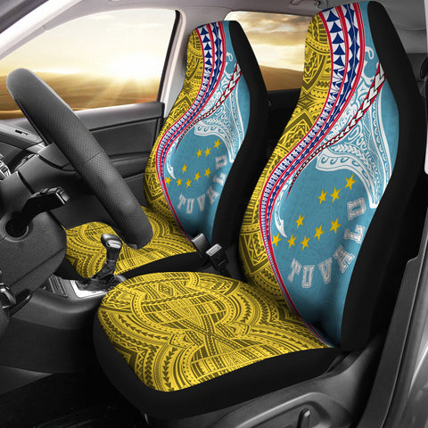 Tuvalu Car Seat Covers Manta Polynesian