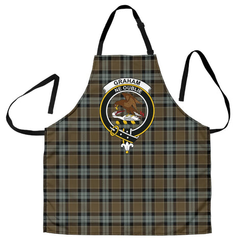Graham of Menteith Weathered Tartan Clan Crest Apron