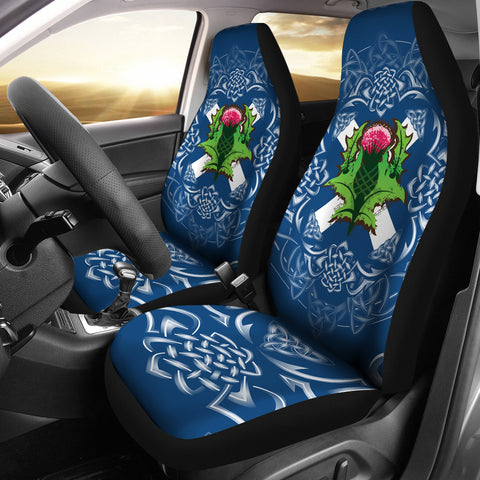 Scotland Car Seat Covers - Saltire Thistle