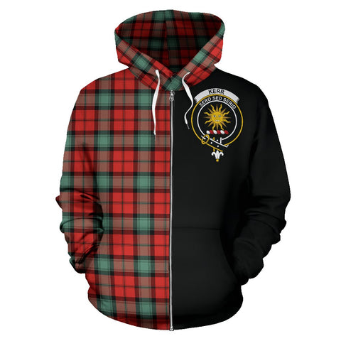 Kerr Ancient Tartan Hoodie Half Of Me | 1sttheworld.com