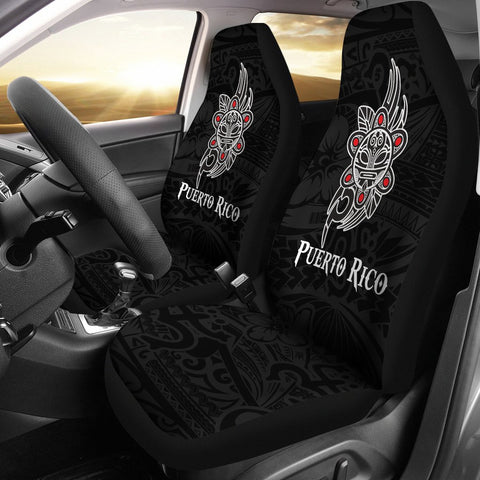 Puerto Rico Taino Sun Coqui Frog Tribal Car Seat Covers A15