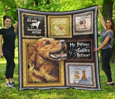 Image of Golden Retriever Premium Quilt - BN