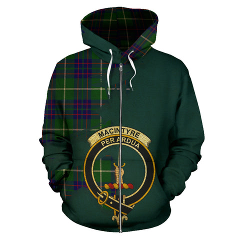 MacIntyre Hunting Modern  Royal All Over Hoodie (Zip)