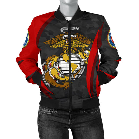 Image of US Marine Corps Bomber Jacket (Women) - US Marine Corps Spirit