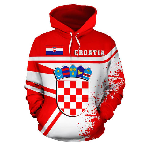 Image of Croatia Hoodie Painting Style | 1sttheworld.com