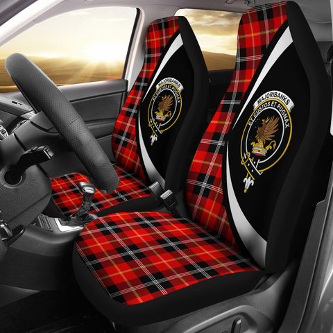 Marjoribanks Tartan Clan Crest Car Seat Cover