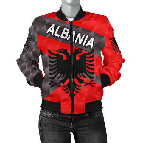 Image of Albania Women Bomber Jacket Sporty Style | 1sttheworld