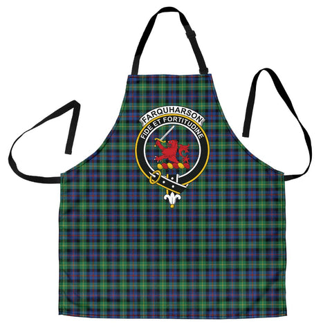 Image of Farquharson Ancient Tartan Clan Crest Apron HJ4
