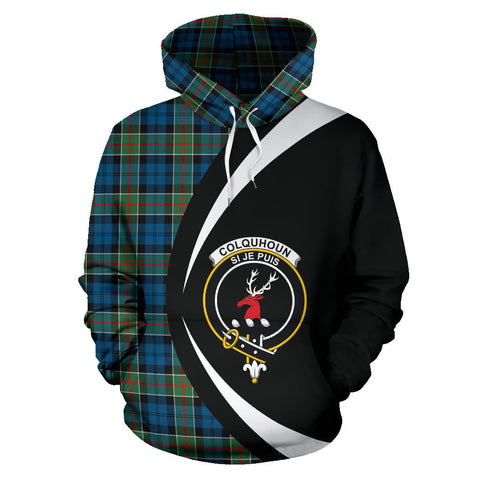Image of (Custom your text) Colquhoun Ancient Tartan Circle Hoodie