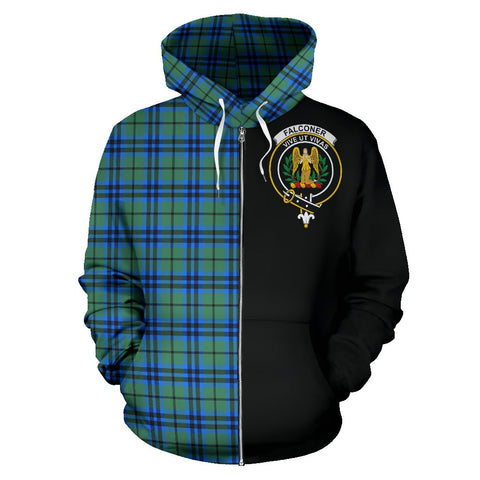 Falconer Tartan Hoodie Half Of Me | 1sttheworld.com