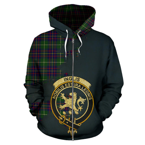 Inglis Modern  Royal All Over Hoodie (Zip)