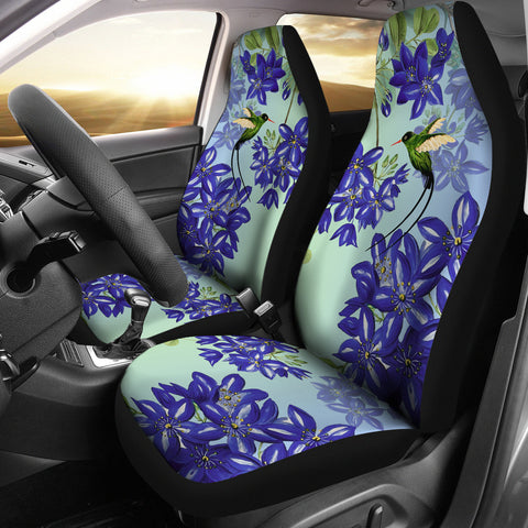 Jamaica Car Seat Cover - Jamaican Doctor Bird - Lignum Vitae - Car Seat Cover