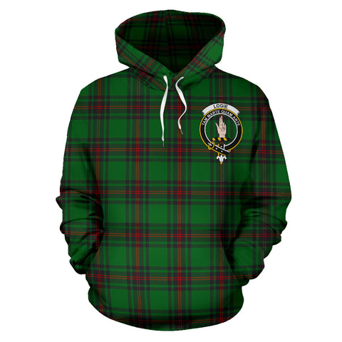 Image of Logie Tartan Clan Badge Hoodie HJ4