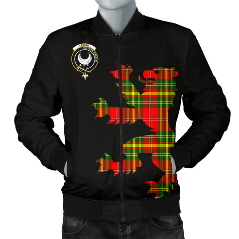 Leask Tartan Lion And Thistle Bomber Jacket for Men