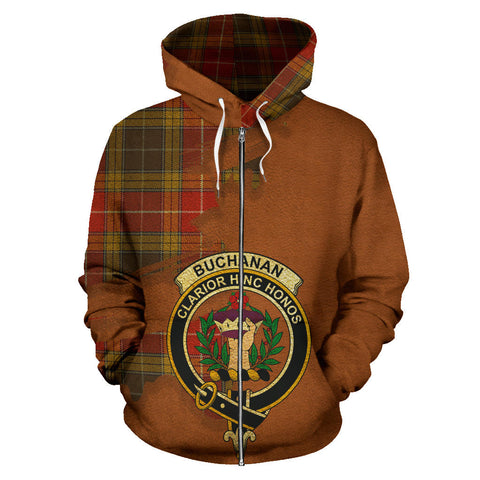 Image of Buchanan Old Set Weathered  Royal All Over Hoodie (Zip)