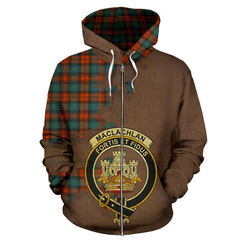 MacLachlan Ancient  Royal All Over Hoodie (Zip)