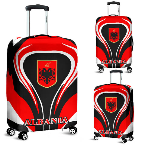 Albania Flag Luggage Covers Cannon Style - Bn101
