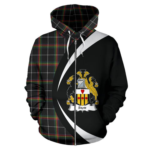Image of Stott Tartan Circle Zip - Up Hoodie HJ4