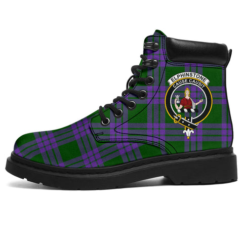 Image of Elphinstone Tartan Clan Crest All-Season Boots HJ4