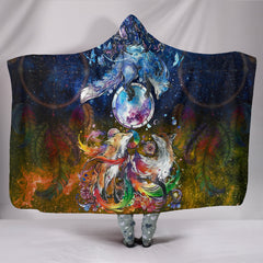 Fox Hooded Blanket - Dream Catcher Galaxy - BN04