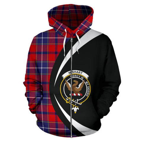 (Custom your text) Wishart Dress Tartan Circle Zip Hoodie