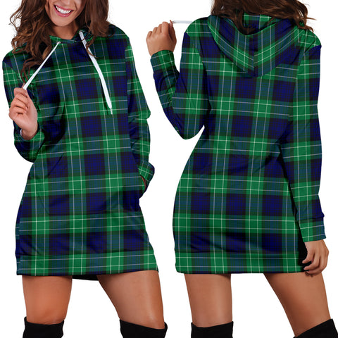 Image of Abercrombie Tartan Hoodie Dress HJ4