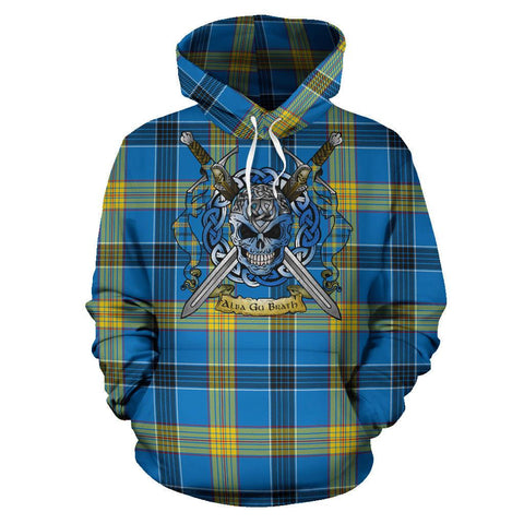 Laing Tartan Hoodie Celtic Scottish Warrior A79 | Over 500 Tartans | Clothing | Apaprel