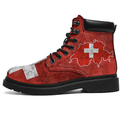 Image of Switzerland All Season Boots Map Flag K4