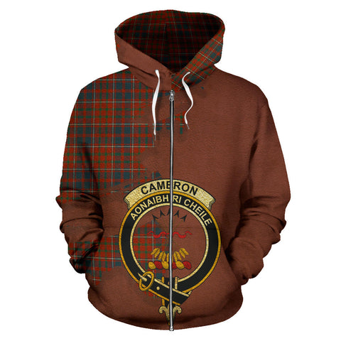 Cameron of Lochiel Ancient  Royal All Over Hoodie (Zip)
