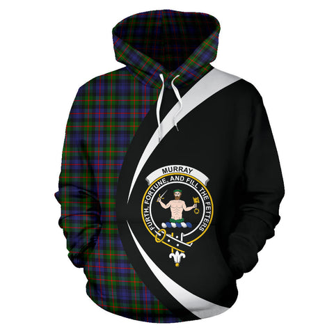 Image of (Custom your text) Murray of Atholl Modern Tartan Circle Hoodie