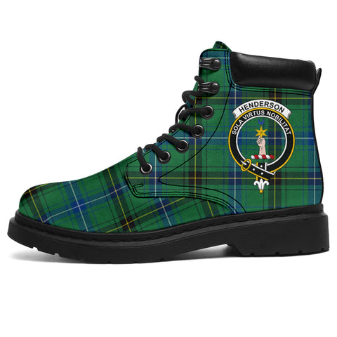 Henderson Ancient Tartan Clan Crest All-Season Boots HJ4