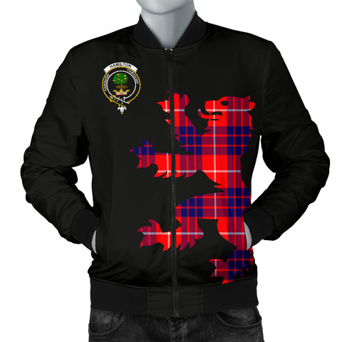 Hamilton Tartan Lion And Thistle Bomber Jacket for Men